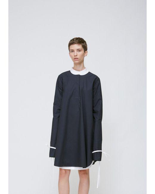 Xiao li Black Long Sleeve Open Back Dress in Black | Lyst