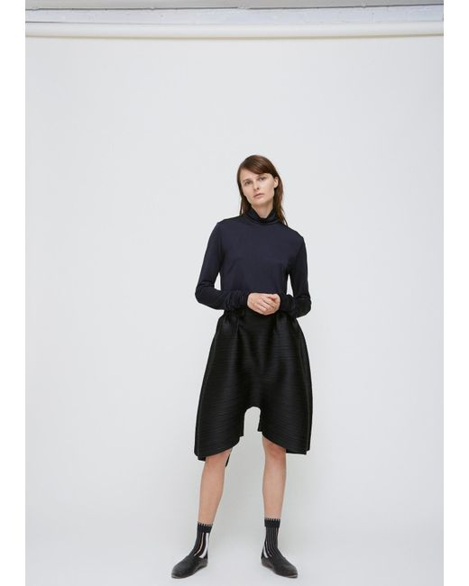 Pleats Please Issey Miyake | Black Cropped Drop Pant | Lyst
