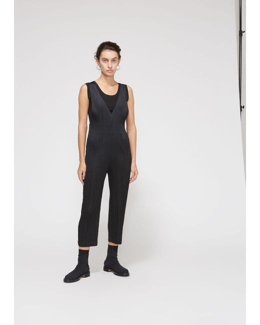 b6fc7afe7d58 Pleats Please Issey Miyake - Black Overall Jumpsuit - Lyst ...