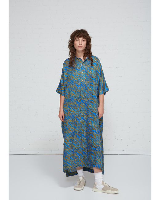 Hope - Blue Tuck Dress - Lyst