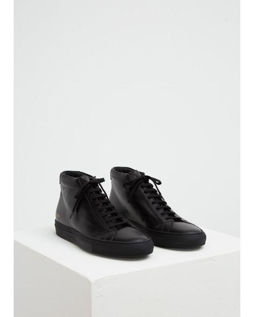 Common Projects Black Original Achilles Mid Sneaker For Men Lyst