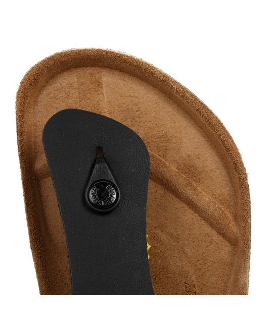 897488dc5fd3 ... Birkenstock - Ramses Birko-flor Mens Black Sandals - Lyst ...