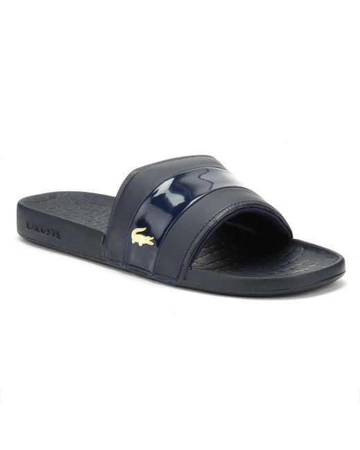 Lacoste - Blue Mens Navy / Gold Fraisier 118 1 Slides for Men - Lyst