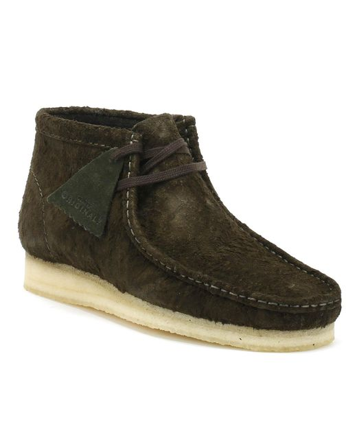 Clarks - Green Wallabee Boot for Men - Lyst