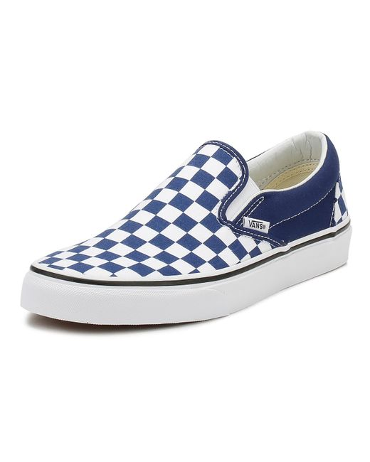 Vans Classic Slip On Checkerboard Embossed in Blue for Men - Save 47 ... 911766080