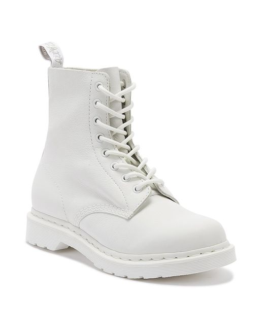 Dr. Martens Dr. Martens 1460 Pascal Virginia Womens White Mono Boots