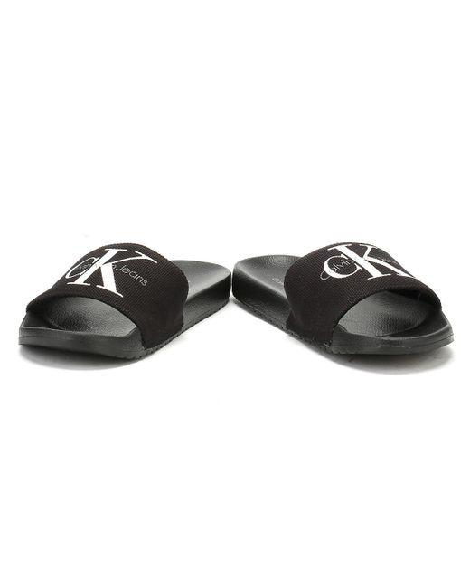 9fb50b25d4e4 ... Calvin Klein - Mens Black Viggo Slides for Men - Lyst ...