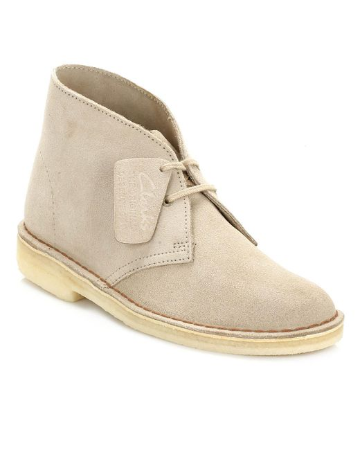Clarks | Natural Womens Sand Desert Suede Boots | Lyst