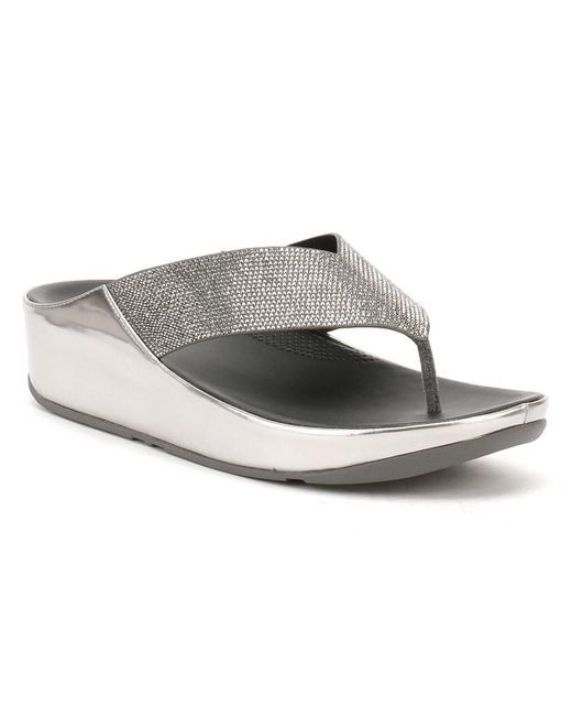 Fitflop | Gray Womens Pewter Grey Crystal Sandals | Lyst