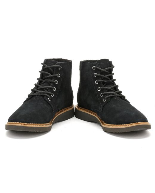 96267a2a648 TOMS Porter Suede Boots in Black for Men - Save 59% - Lyst