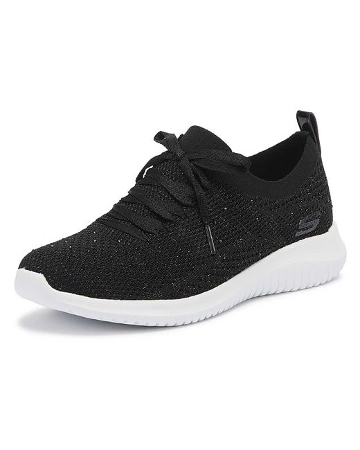 35c8b02c4318 ... Skechers - Ultra Flex Strolling Out Womens Black Trainers - Lyst ...
