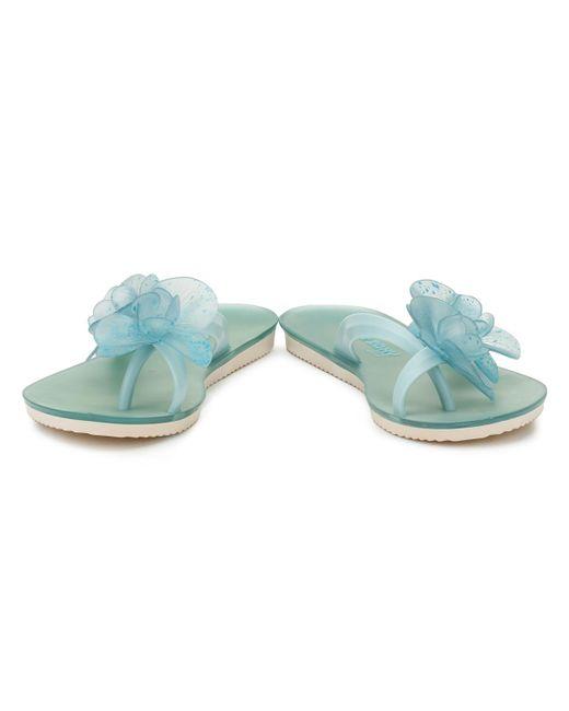 3b92cef3a17b5 Lyst - Zaxy Womens Aqua Ice Flower Flip Flops in Blue - Save 6%