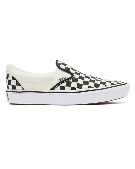 81d73f8a25ba ... Vans - Comfycush Classic Slip-on Black Checkerboard Trainers for Men -  Lyst ...
