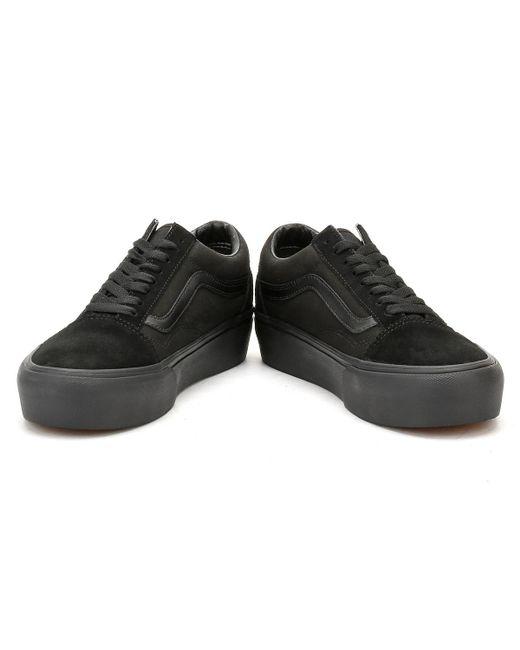 c49fb3fa151 ... Vans - Womens Black   Black Old Skool Platform Trainers - Lyst ...