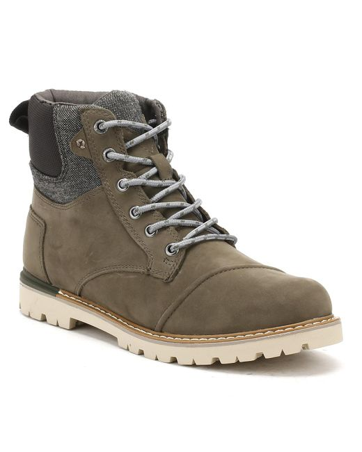 TOMS - Mens Tarmac Olive Brown Nubuck Ashland Boots for Men - Lyst