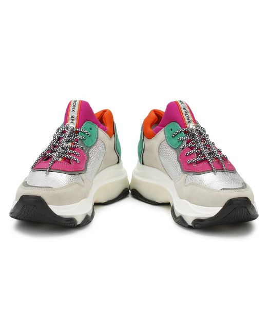 ... Bronx - Multicolor Womens Off White / Silver Baisley Chunky Trainers -  Lyst ...