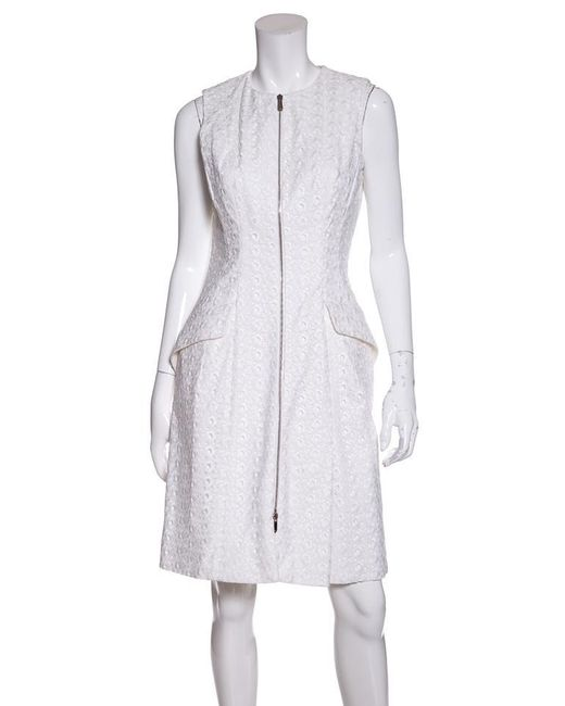 Womens White Christian Lace Casual Dress