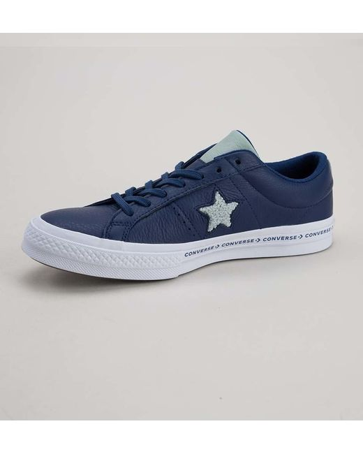 4102a4fd363 ... Converse - Blue 159722c One Star Ox Navy-dried Bamboo-white Trainers  for Men ...