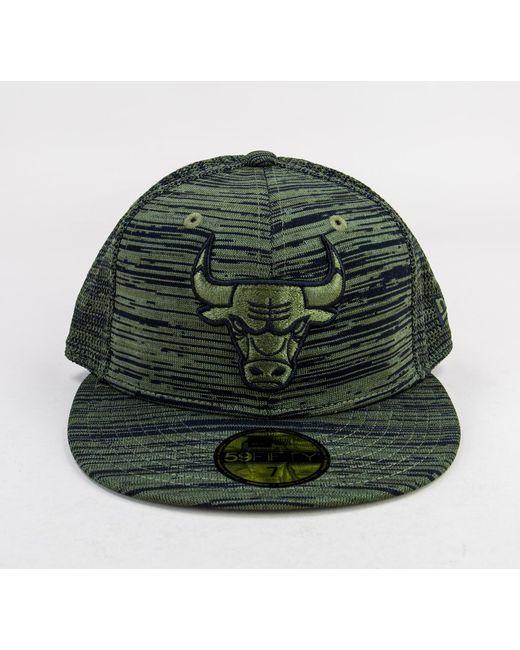 KTZ - New Era Engineered Fit 59fi Cap Black-green Hats for Men - Lyst ... c35cee1df3a8