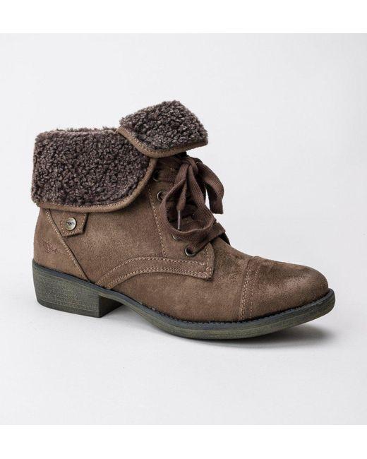 Rocket Dog | Brown Rocket Dog Tiffany Burnie Fabric/shearling Boots | Lyst  ...