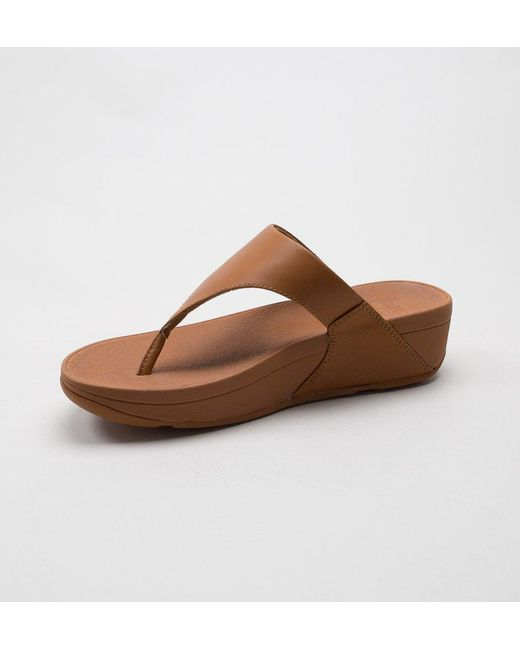 35cd33e988d ... Fitflop - Brown Lulu Leather Sandals - Lyst ...