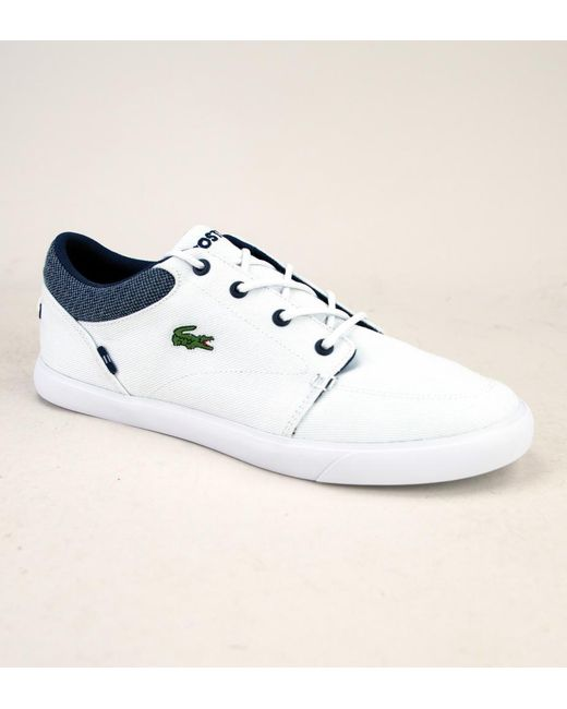 15f209d96 Lacoste Bayliss 318 1 Cam Wht-nvy Shoes in White for Men - Lyst