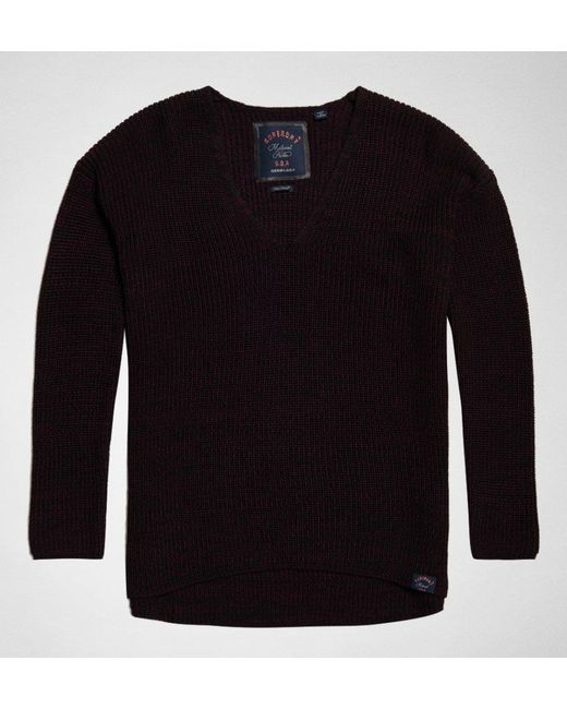 Superdry - Black Almeta V-neck Knit Jumper - Lyst