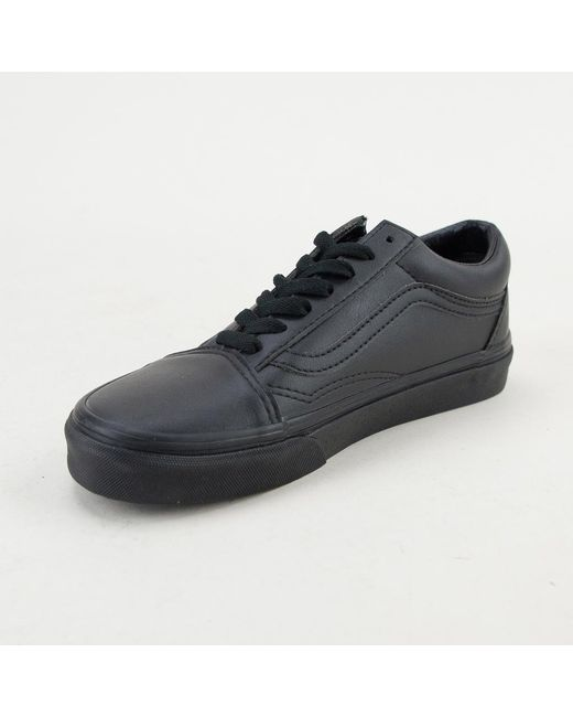 965430a6b6b ... Vans - Old Skool (classic Tumble) Black Mono Trainers for Men - Lyst ...