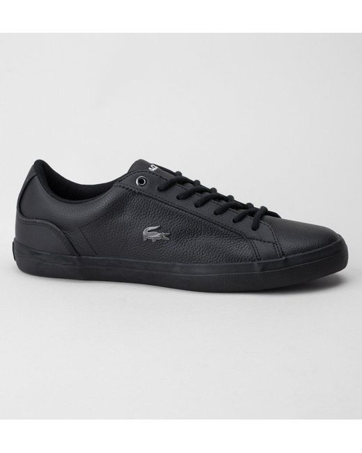 d0b842544 Lacoste Lerond 317 4 Cam Trainers in Black for Men - Save ...