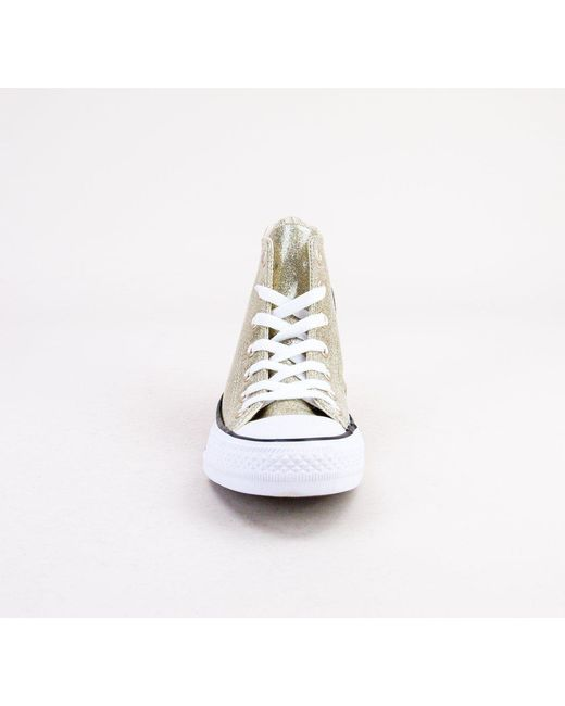 ca4932b0374433 ... Converse - 562481c Ct As Hi Light Gold-light Gold-white Boots - Lyst ...