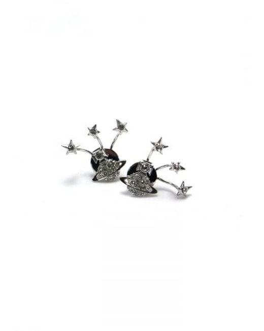 Vivienne Westwood | Metallic Pia Earrings Rhodium/crystal Colour: Rho | Lyst