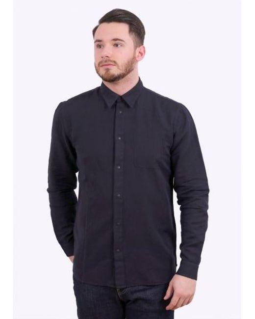 Folk | Blue Pop Stud Shirt for Men | Lyst
