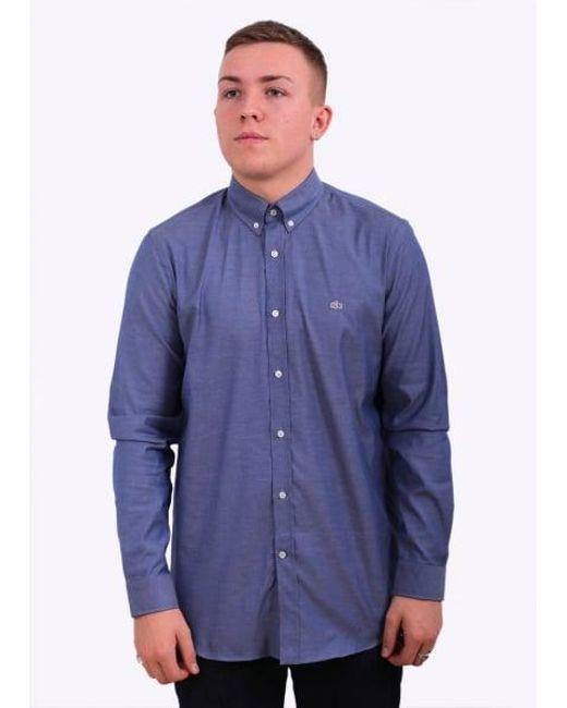 Lacoste | Blue Regular Fit Shirt for Men | Lyst
