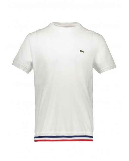 29ff657a Lacoste Stripe Hem Tee in White for Men - Save 6% - Lyst