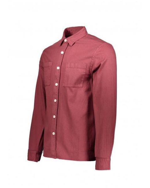 6cb39057828 ... Saturdays NYC - Red Nolan Washed Denim Shirt for Men - Lyst ...