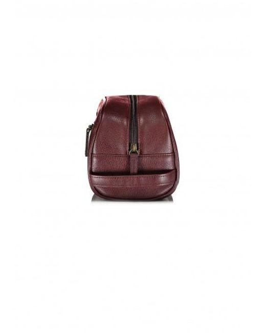 a15807cf69f Barbour Leather Washbag Dark Brown One Colour  Dark Brown, Uk Size ...