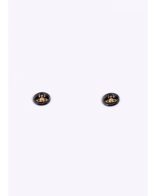 f45ec9057 Vivienne Westwood - Multicolor Embossed Logo Stud Earrings - Lyst ...