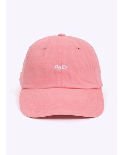 Obey | Pink Jumble Bar Hat Ii 6 Panel for Men | Lyst