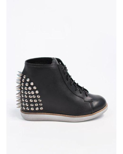 Jeffrey Campbell - Black Edea Leather Boots - Lyst