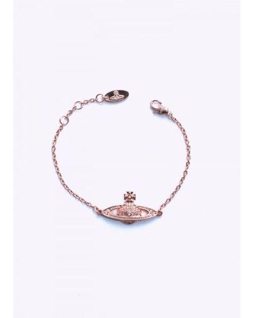 Vivienne Westwood - Pink Mini Br Bracelet Chain - Lyst