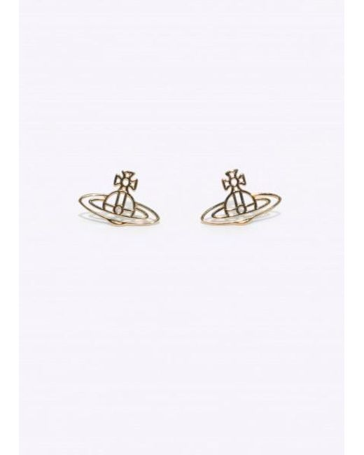 Vivienne Westwood - Yellow Thin Lines Orb Studs - Lyst