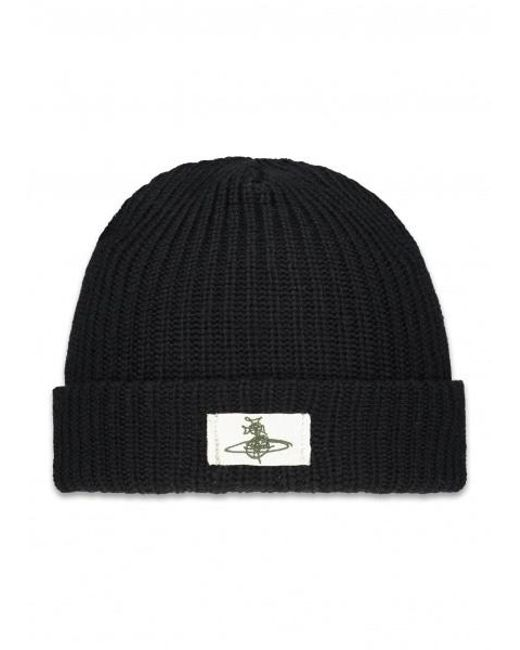 4259253c5eb Lyst - Vivienne Westwood Ribbed Knit Beanie in Black for Men - Save ...