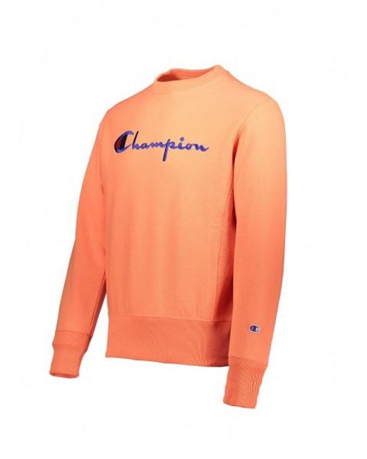 96c8ed2a ... Champion - Orange Crewneck Sweatshirt for Men - Lyst ...