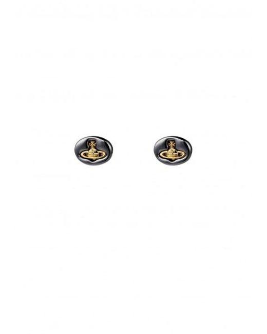 Vivienne Westwood - Metallic Embossed Logo Stud Earrings - Lyst