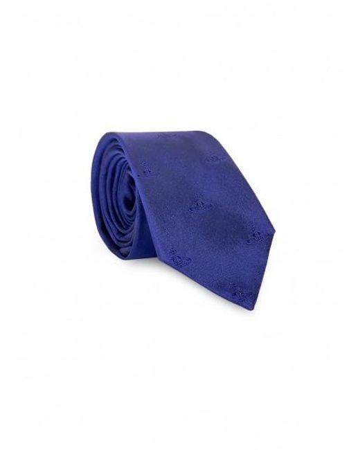 Vivienne Westwood Blue Orb Logo Tie for men