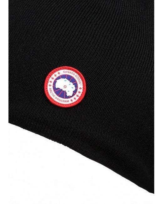 fca1c0a3100 ... Canada Goose - Black Standard Toque Hat for Men - Lyst