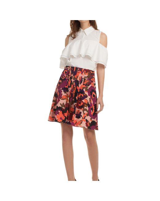 Trina Turk | Red Diamond Skirt | Lyst