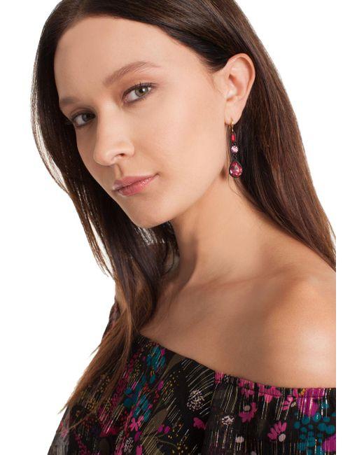 Trina Turk | Multicolor Confetti Stone Drop Earring | Lyst