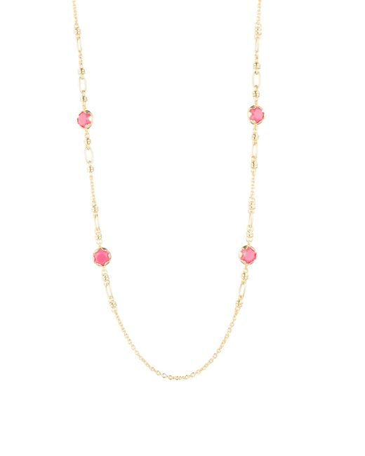 Trina Turk - Metallic Retro Botanics Illusion Necklace - Lyst
