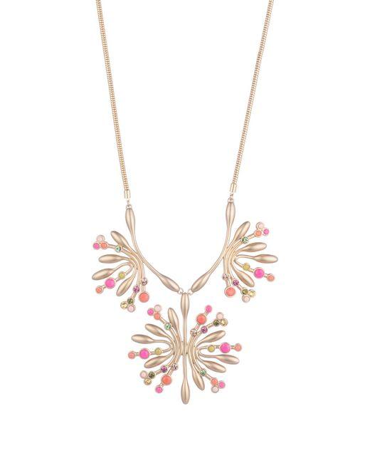 Trina Turk - Metallic Retro Botanics Flower Burst Necklace - Lyst